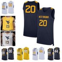 oeste camisa de basquete venda por atacado-2019 personalizado West Virginia Mountaineers WVU Basketball Culver 5 McCabe 2 Brandon Knapper Osabuohien McBride Haley Emmitt Matthews Jr. Jersey
