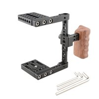 Wholesale cage for dslr camera for sale - Group buy CAMVATE Compact Camera Half Cage Rig With NATO Left Handle Wooden Grip C2053