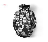 schädel hoodies männer groihandel-Herren Designer Pullover für Männer Sweatshirt Liebhaber 3D Schädel Hoodies Jacke mit Kapuze Ogreish Pullover Tees Kleidung S-5XL Freies Verschiffen