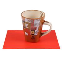 rücktisch großhandel-Silikon Esstisch Tischset Küche Werkzeug Geschirr, um die Hot Pad Back Coaster Kaffee Tischset 1 STÜCK zu verhindern