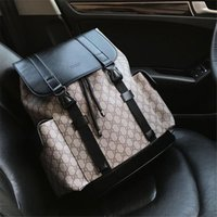 Wholesale backpack leather for man resale online - Designer Backpack for Men and Women Genuine Leather Luxury Backpack New Fashion School Bags
