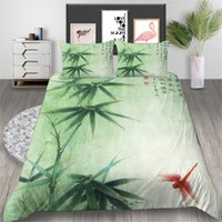 Wholesale elegant full bedding sets for sale - Group buy Bamboo Bedding Set Chinese Elegant Fresh D Duvet Cover Dragonfly King Queen Twin Full Single Double Soft Bed Cover with Pillowcase