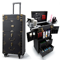 ingrosso bellezza del carrello-Truccatore Barber Rolling Toolbox, Ruota cosmetica Valigia Bag, Nails Manicurist Trolley Case, Beauty division Box