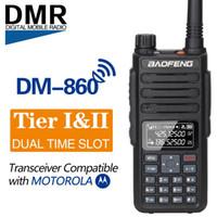 Wholesale radio times resale online - 2019 Baofeng DM Digital walkie talkie Dual Time Slot tier tier ii DMR Digital Analog DM dm1801 Ham protable radio