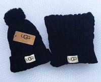 doğrudan satış eşarpları toptan satış-Sıcak moda marka erkekler ve kadınlar kış yüksek kalite sıcak eşarp şapka takım tam örgü şapka sıcak fabrika doğrudan satış