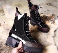ingrosso le scarpe da neve delle signore sono alte-Stivaletti DESERT BOOT Donna Stivaletti classici Stivali da donna Snow in pelle WinterMartin Stivaletti Lady Thick Rubber Outsole 5cm Chunky Heel
