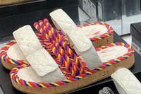 rote weiße sandale heeled großhandel-2019 frauen camillia sandalen seil riemchen weiß rot leder 35-40 Mode leder luxus sandalen flache rutschen ferse strand schuhe mit box