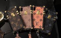 ingrosso casi di cellulare di alta qualità-Caso di telefono stampa moda di lusso per apple iphonex xs max xr iphone 8 8plus 7 6s più copertura del cellulare in pelle di alta qualità