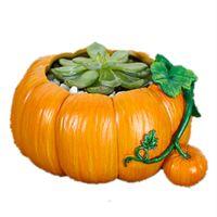 зеленая белая ваза оптовых-Подставка для растений Декоративные цветочные горшки Террариум Ваза в форме тыквы Украшение дома