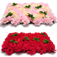 Wholesale flower wall panels for sale - Group buy 40X60cm Artificial Silk Flower Wall Panel White Flowers Hydrangea Wedding Decoration Wedding Party Backdrop Decor Freeshipping
