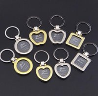 Wholesale mini keychain frames resale online - Mini Pendant Design Photo Frame Keychains DIY Insert Photo Picture Frame Keychain Metal Zinc Alloy Keyring Key Ring Lovers Gift SN2663