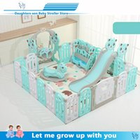 Wholesale kids safety games resale online - Indoor Baby Playpens Outdoor Games Fencing Children Play Fence Kids Activity Gear Environmental Protection EP Safety Play Yard