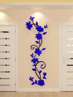 Wholesale wall sticker poster flower resale online - 1pcs cm DIY Home Decor Flower Tree Posters Decoration plastic D Wall Stickers Decal Home living room For Home Decor