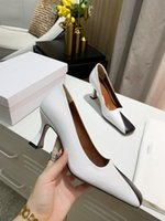 Wholesale simple plain shoes resale online - Real Leather Women Dress Shoes Heel cm Designer Luxury Famous Genuine Leather Simple Fashion Vintage Shoes Ladies