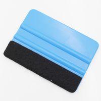 vinil sıyırıcı toptan satış-Araba kazıyıcı filmi sticker araba vinil filmi sarma araçları mavi 2D 3D 4D 5D Araba karbon fiber çekçek Pencere Vinil Sarma araçları Çıkartması