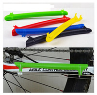 Wholesale mountain cars for sale - Group buy Plastic bike chain stay protector bicycle care chain stickers mountain bike folding car care chain stickers bicycle frame protection LJJZ344