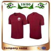 Wholesale uniform for sale - Group buy 2019 Americas Cup Qatar Soccer Jersey Qatar Home Red Almoez Ali Afif Ali Alrawi Soccer Shirt Qatar national football team uniforms