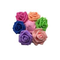 rose balls para la venta al por mayor-Rosa simulación cabeza de flor de espuma bola de flores artificiales Luces de boda decorar suministros Hecho a mano más color ventas calientes 0 22srC1