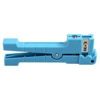cortador de cabo coaxial venda por atacado-10 PCS Serve Para A Idéia 45-163 Coaxial Cable Stripper Cortador de Fibra Óptica Com Extra Uma Lâmina