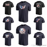 ingrosso vendita delle baia-Cotone vendita calda NUOVO 2019 Uomini St. Louis Blues Tampa Bay Lightning Vancouver Canucks Washington Capitals Winnipeg Jets Banner onda T Shirt