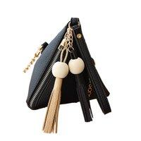 mini fourre-tout noir achat en gros de-porte-monnaie femmes portefeuilles Mode mini sac dames fermeture à glissière noir petits porte-monnaie portefeuilles Tote Ladies Purse Small Bags pochette 6L3