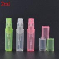nachfüllbare leere plastiksprayflasche groihandel-2 ml Kunststoff Mini Spray Parfüm-Flasche Reisen nachfüllbar Leer Ätherisches Öl-Flaschen-Zerstäuber Aluminium nachfüllbare Flaschen RRA2163