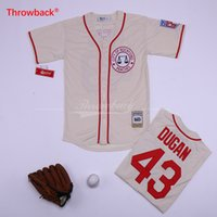 camisas de beisebol bege venda por atacado-Barato Jimmy Dugan Jersey Rockford Pêssegos Bege Camisas de Beisebol de Alta Qualidade Novo Navio Livre Tamanho S-XXXL