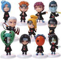 ingrosso supporti per giocattoli-Naruto Sasuke Uzumaki Kakashi Gaara Azione con supporti Figure funko pop Giappone Anime Collezioni Regali Giocattoli per bambini