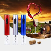 Wholesale opener electric for sale - Group buy Dry Battery Electric Wine Openers with Light Automatic Bottle Opener Corkscrew with Foil Cutter and Vacuum Stopper Kitchen Tools