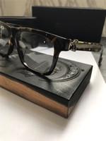 óculos de tiro claros venda por atacado-Novo designer de óculos vintage CHR prescrição de óculos homens steampunk pequena estilo de moldura marca lente ransparent clara eyeweara proteção