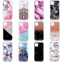 caja del teléfono de rock al por mayor-Marble Soft TPU IMD Funda para Iphone 11 Nuevo 5.8 6.1 6.5 2019 Samsung Note 10 Pro Natural Granite Stone Rock Luxury Fashion Gel Funda para teléfono