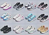 yeni moda ayakkabı fiyat toptan satış-Adidas Falcon W running shoes 2019 YENI Yüksek kalite Düşük fiyat FALCON W erkek ve kadın koşu ayakkabıları, moda spor rahat ayakkabılar boyutu 36-45