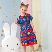 Wholesale baby girl casual clothing for sale - Kidsalon Princess Dress for Girls Summer Dresses Cotton Casual Kids Dress for Girl Clothes Baby Girls Costume