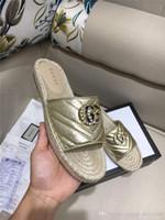 sapatos de couro usados venda por atacado-Sandálias de couro clássico feminino Sippler, apartamentos de espadrille com palha sola de tecelagem sapatos casuais mulheres Slip-on para uso diário