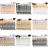 Wholesale face makeup tools online - Cosmetic Eye Make Up Brush Set Professional Foundation Sponge Blush Eye Shadow Face Blender Eyelash Makeup Brushes Tool Kit Colors