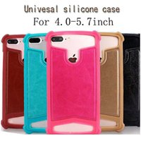 Wholesale silicon cellphone cases online – custom High quality silicon universal smart phone case with sizes for choose to fit to inch smart phone for samsung iphone cellphone case
