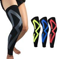 Wholesale leg protector knee resale online - Dragonpad Knee Pads Compression Long Leg Sleeve Protector Gear Breathable Crashproof Antislip Basketball Protective Pad