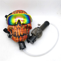 Wholesale smoke mask bong for sale - Gas Mask Bong Silicone Skull Mask Pipes with Sun Glasses Oil Rigs Oil burner Multifounctions Smoking Bongs Mask Hookah