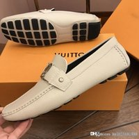 yumuşak ayakkabı tasarımcısı toptan satış-Tasarımcı ayakkabı Eğlence Sürüş Bezelye ayakkabı erkek yumuşak alt Setleri Loafer'lar Yeni İtalya'da Yapılan En yüksek kalite Boyutu 6.5-11
