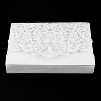 Wholesale used wedding dresses resale online - 20pcs Foldable Invitation Card Cover Exquisite Hollow Out Bridal Wedding Dress Cover Designed for Wedding Party Use