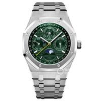 relojes ovalados hombres al por mayor-Hombres calientes de la venta reloj 41mm 26574 reloj automático de roble real Acero inoxidable 18K relojes de oro 2813 movimiento relojes de lujo para hombre reloj de pulsera reloj