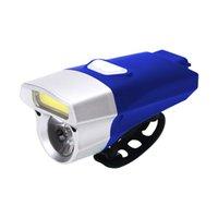 фонарь ручного велосипеда оптовых-Hot Bike USB Rechargeable Bicycle Light Double Lamp  Waterproof Bright Handlebar Bike Headlight MCK99