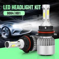 ingrosso lampadina hb1-2 pz / set HB1 9004 6000K faro HB1 COB LED Auto Faro Testa Lampada Fendinebbia Lampadina Kit Bianco Freddo