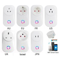 Wholesale power outlet remote control for sale - Group buy Smart WiFi Plug Adaptor A Remote Voice Control Power Monitor Socket Outlet Timing Function with Google Home Alexa
