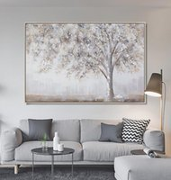 Wholesale oil painting for wall decoration resale online - Handmade High Quality Abstract money tree For Wall Decoration a