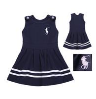 plissierte kleidung großhandel-Baby-ärmelloses Behälter-gefaltetes Kleid 2019 neuer koreanischer netter Oansatz-Sommerkleid-Sommer scherzt Kleidung 1-7 Jahre
