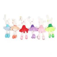 baby plüschtiere teddybären großhandel-Baby Spielzeug Nettes Kaninchen Schlafkomfort Gefüllte Puppe Cartoon Bunny Teddybär Plüschtiere Hot Toys Für Baby Geschenke B1115-2