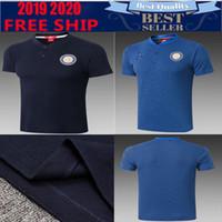 polo uniforme al por mayor-2019 2020 Inter Home Blue Soccer Jersey 20 Inter polo 2018 # 9 ICARDI # 10 LAUTARO # 44 PERISIC Uniforme de fútbol Ventas