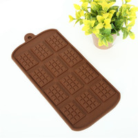 Wholesale silicone molds wedding resale online - Chocolate Mold Silicone Molds Cake Tools DIY Waffle Candy Bar Kitchen Baking Accessories Making Dessert bh F1