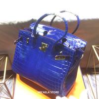 krokodil deri çanta bayan toptan satış-Lüks Tasarımcı Bags Çanta Timsah Bez Womens 2020 Bayanlar Marka Timsah Kabartmalı Gerçek Deri Omuz Crossbody Çanta Çanta